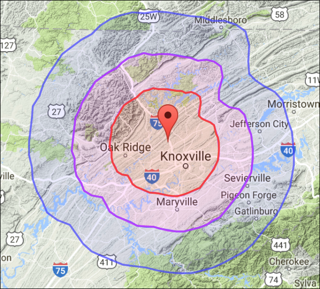 knoxville mermap
